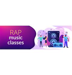 hip-hop music concept banner header vector image