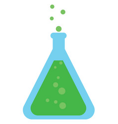 image chemistry - flask or color vector image