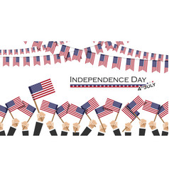 independence day usa 4th july many people vector image