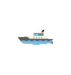 Isolated yacht flat icon sailboat element vector
