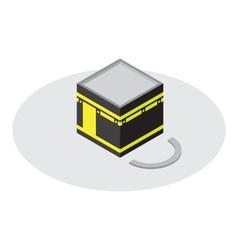 Kaaba mecca icon isometric style vector