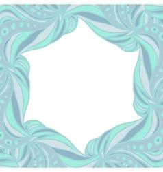 Light blue hexagonal frame vector image