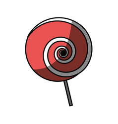 Lollipop sweet candy vector