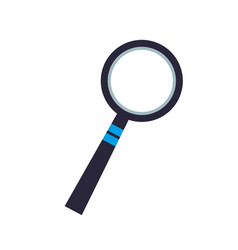 Magnifier glass zoom search image vector