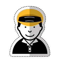 man taxi driver avatar vector image