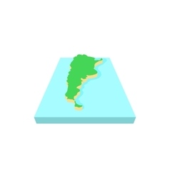 map argentina icon cartoon style vector image