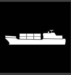 merchant ship it is icon vector image