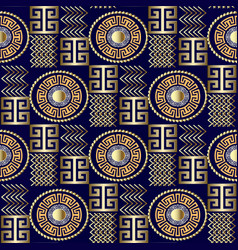 Modern 3d greek seamless pattern patterned vector