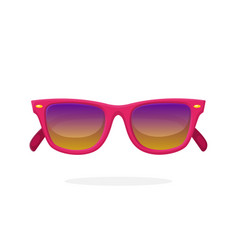 modern sunglasses with pink mirror lenses vector image