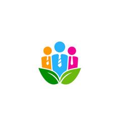 nature job logo icon design vector image