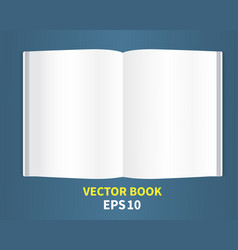 open book -02 vector image