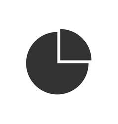 Pie chart black icon vector