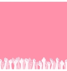 Pink background with seamless border vector image
