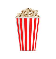 Popcorn box mockup realistic style vector