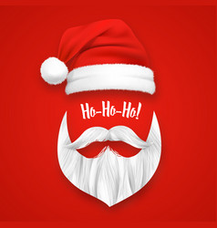 Realistic santa claus christmas mask vector
