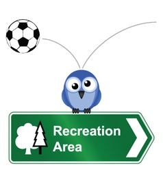 RECREATION SIGN vector image