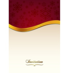Red invitation vector image