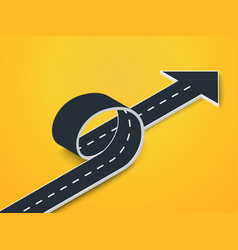 road loop with arrow isometric view winding 3d vector image