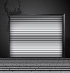 Roller shutter door vector