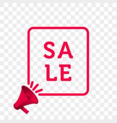 sale message quote megaphone icon vector image