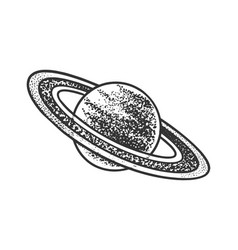 Saturn planet sketch vector
