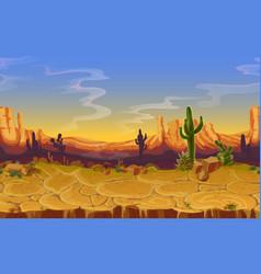Seamless desert horizontal landscape vector