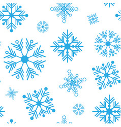 seamless pattern with detailed snowflakes vector image