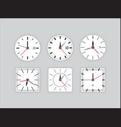 Set clock dial timer vector