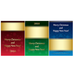 Set of greeting cards for christmas - leaflets vector