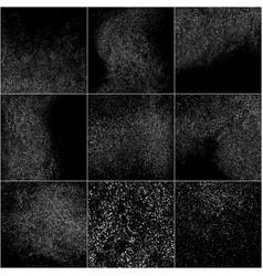 Set white grainy texture vector