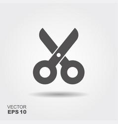 Simple flat icon scissors vector