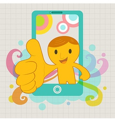 SmaretPhoneThumpsUp vector image