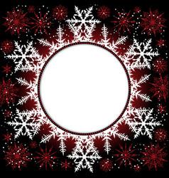snowflake elegant ornamental snow element vector image