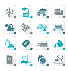 sstylized different kind of business and industry vector image