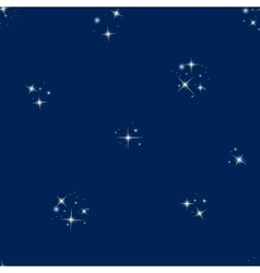 Starry sky seamless pattern vector