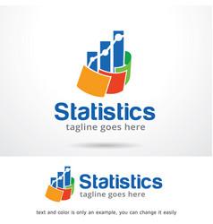 statistics logo template vector image