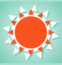 Summer sun icon vector