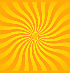 sun rays background yellow orange radiate sun vector image