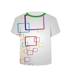 T Shirt Template- Shape art vector image