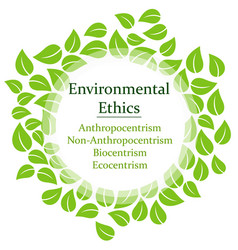 the 4 environmental ethics vector image