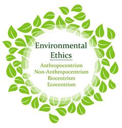The 4 environmental ethics vector