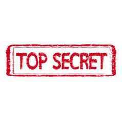Top secret stamp text vector