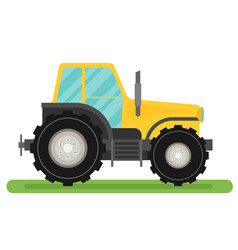 Tractor isolated on white background flat vector
