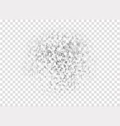 Transparent english alphabet letters floating vector
