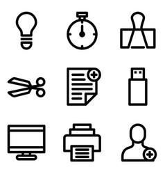 Universal line icon vector