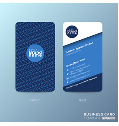 vertical business card design with zigzag line vector image