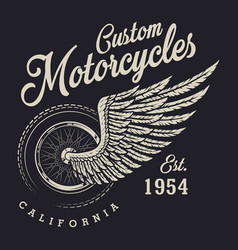 Vintage custom motorcycle logo vector