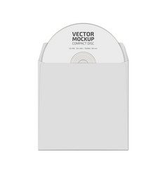 White blank compact disc mock up vector