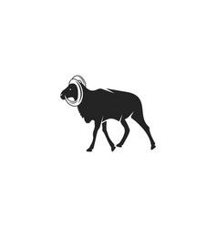 Wild goat silhouette icon design wild animal vector