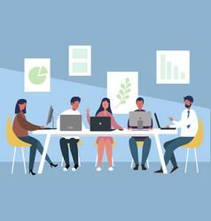 Work team meeting vector